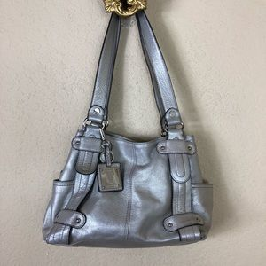 Euc Tignanello silver shoulder bag